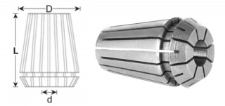 Цанга ER16-6 (DIN 6499B)