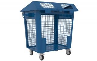 Сетчатый контейнер для РСО с колесами 1,1 куб. м