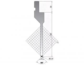 Пуансон P.150-88-R025-L