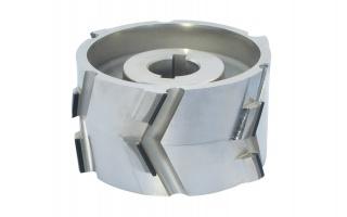 Алмазная прифуговочная фреза со сменными ножами 150*30*26 z3+3 RH H4