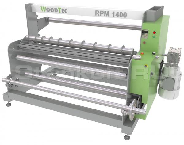 Станок для резки рулонных материалов с перемоткой WoodTec RPM 1400