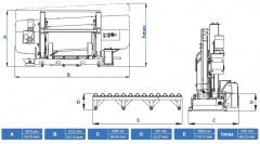 Станок ленточнопильный полуавтоматический CUTERAL CSM 1200/2000