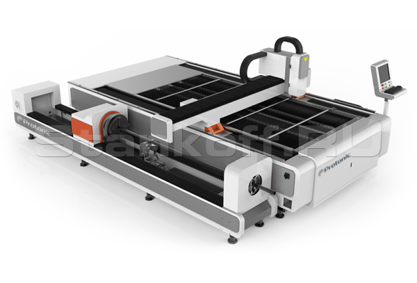 Оптоволоконный лазер с труборезом DualCut PRO CR3015/500 Raycus