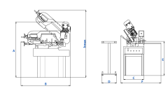 Станок ленточнопильный CUTERAL PSM 220 M PRATIK