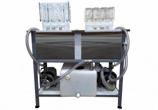 Полуавтоматическая мойка-ополаскиватель для стеклянных и ПЭТ бутылок CW-24