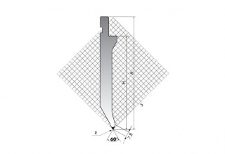 Пуансон для листогибочных прессов TOP.175-60-R2/R/T