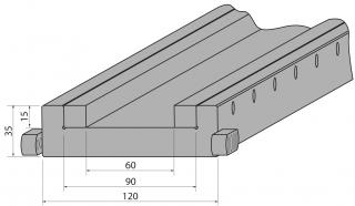 Подложка сборная с увеличенным пазом C1050-90