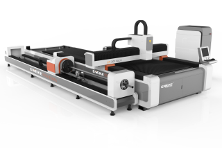Оптоволоконный лазер для резки листов и труб со сменным столом LF3015GCR/4000 IPG