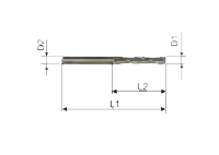 Фреза спиральная однозаходная стружка вверх N1LX3.08