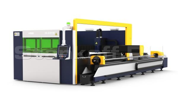 Оптоволоконный лазерный станок для резки листов и труб до d-325 мм HS-G3015E-35Q/1500 Raycus