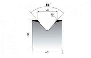 Матрица для гибки листового металла M60-85-40/C