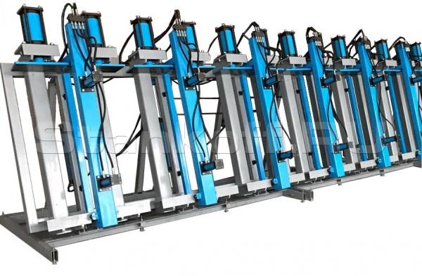Пресс гидравлический вертикальный для склеивания бруса SLH300-3G