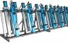 Пресс гидравлический вертикальный для склеивания бруса 3Г/300