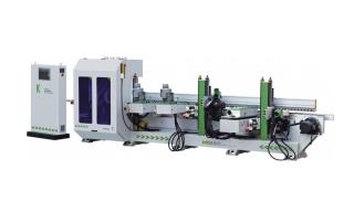 Автоматический станок для формирования и шлифования профильных кромок мебельных фасадов MSE-SIDE-K2S2W2