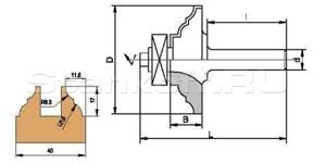 Фреза концевая профильная, напаянная пластинами твердого сплава, для обработки обвязки комплекта 041.03