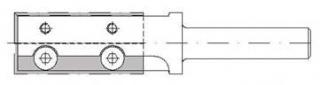 Фреза концевая с механическим креплением твердосплавных пластин для выборки пазов