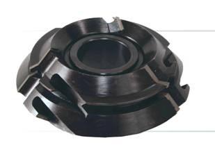 Фреза, напаянная пластинами из инструментальной быстрорежущей стали, для углового сращивания (под углом) древесины