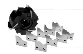 Фреза цилиндрическая с механическим креплением ножей