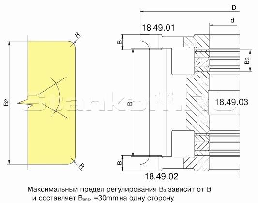 Фрезы для обработки бруса ДФ-18.49