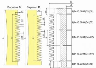 Фрезы для обработки шипов для сращивания древесины ДФ-15.05 Б ДФ-15.05 В