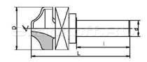 Фрезы концевые профильные, напаянные пластинами твердого сплава, для обработки фасадов мебели