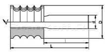 Фрезы концевые профильные напаянные пластинами твердого сплава, для обработки отделочной доски