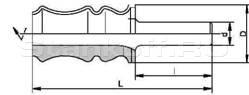Фрезы концевые профильные, напаянные пластинами твердого сплава, для обработки отделочной доски