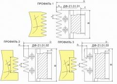 Фрезы сборные для обработки макрошипов для сращивания древесины ДФ-22.01, ДФ-22.02, ДФ-22.03