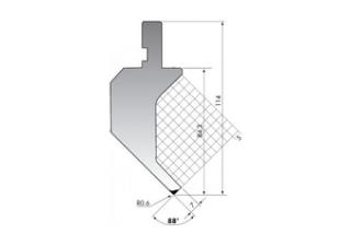 Пуансон гусевидного типа P.114-88-R06/C/R