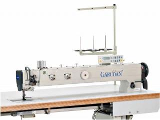 Прямострочная двухигольная длиннорукавная промышленная швейная машина Garudan GF-238-448MH/L100