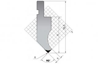 Пуансон прямого типа PK.97-90-R025/F