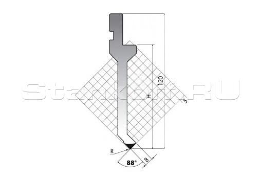 Пуансон для листогиба P.130-88-R06/C