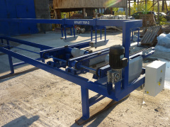 Торцовочный станок проходного типа Стилет ТСП-50/2-6000 (мультиторцовка)
