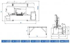 Станок ленточнопильный полуавтоматический CUTERAL CSM 400