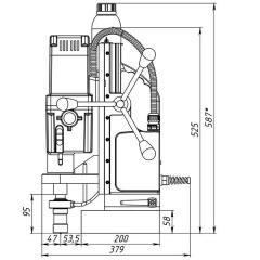 Магнитный сверлильный станок MBSA 100
