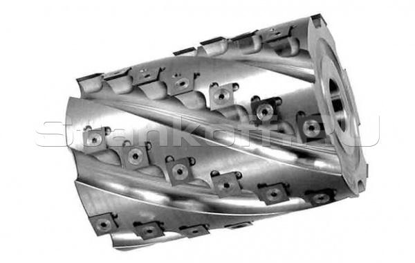 Фреза-кукуруза «механик» цилиндрическая сборная, с винтовым расположением твердосплавных ножей 090.06.90.40.110-0Z