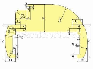 Комплект фрез для изготовления дверной коробки ДФ-04.47