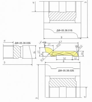 Комплект фрез для изготовления европлинтуса ДФ-05.38 Б