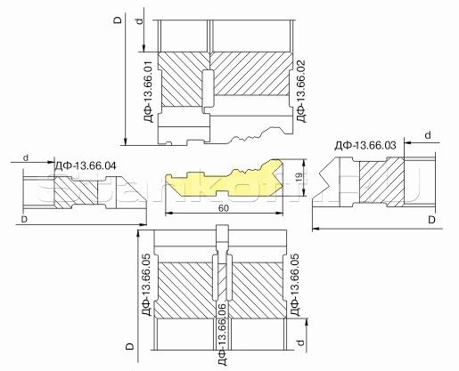 Комплект фрез для изготовления фасонных изделий ДФ-13.66
