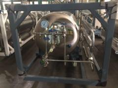 Горизонтальный криоцилиндр для азота и кислорода ГХК-Г-0,5/2,5-25