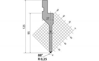Пуансон прямого типа P.125.88.R025.805s