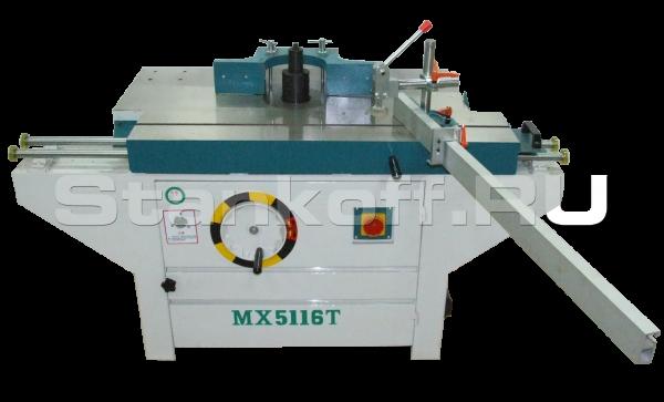 Вертикальный фрезерный станок с шипорезной кареткой по дереву MX5116T (д)