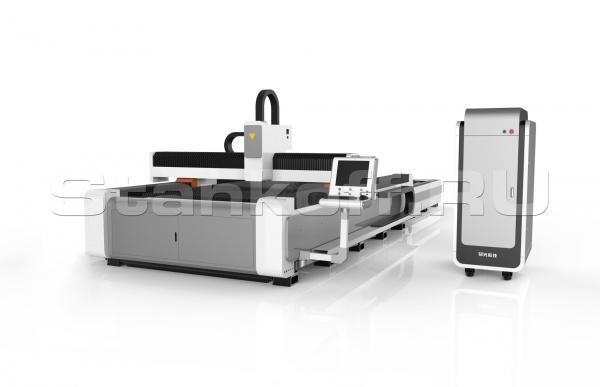 Оптоволоконный лазерный станок для резки металла со сменным столом LF301GC/4000 IPG