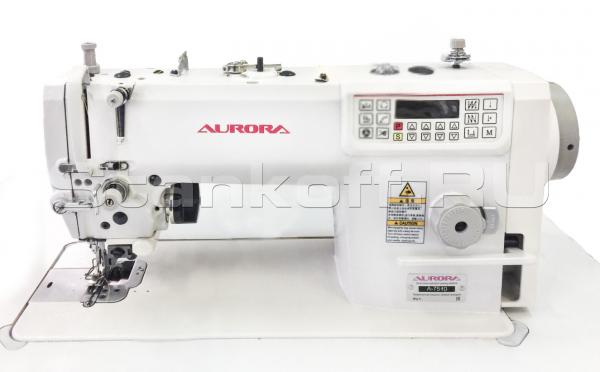 Прямострочная швейная машина с игольным продвижением и ножом обрезки края материала Aurora А-7520