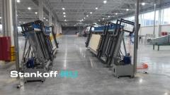 Пресс гидравлический вертикальный для оконного и строительного бруса и щита SL250-6GR