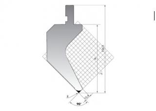 Пуансон гусевидного типа PK.135-90-R025/C