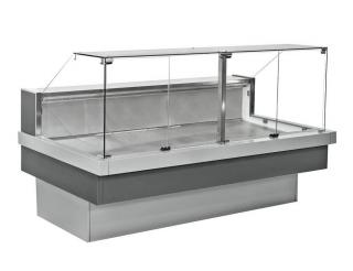 Средне-низкотемпературная витрина под выносное холодоснабжение NEVA slim QV 125 TM