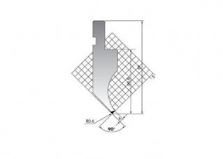 Пуансон прямого типа PK.97-90-R06/C/R