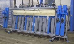 Пресс пневматический для бруса и щита SLP100-4-1350