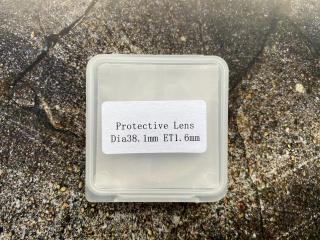 Оригинальное защитное стекло 38,1 x 1,6 мм для Raytools BM114s IG0009 для оптоволоконных лазеров